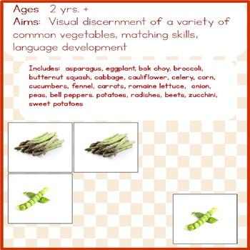 Montessori - Vegetables Matching Cards