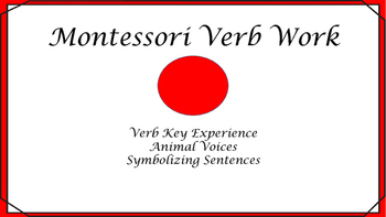 Montessori Verb work