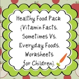HEALTHY FOOD CHOICES VITAMIN FACTS MONTESSORI EDUCATIONAL MATERIAL