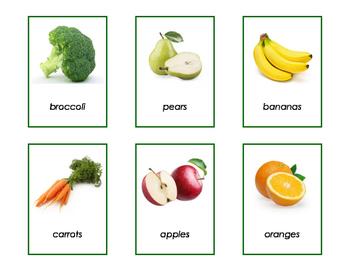 Montessori: Vocabulary Enrichment - Fruits and Vegetables