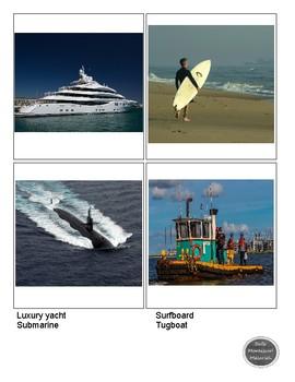 Montessori - Water Transportation Matching Cards