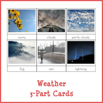Montessori Weather 3-part Cards