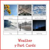 Montessori Weather 3-part Cards