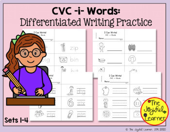 Word Building & Writing Practice: CVC -i- Words