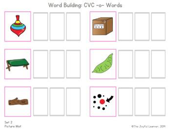 Word Building & Writing Practice: CVC -o- Words