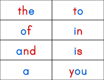Montessori Word Cards/Word Wall/Flash Cards