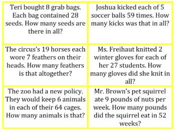 Montessori Word Problems