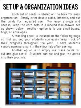 Montessori Language & Grammar Sorts