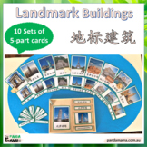 Montessori World Landmarks - Cards in Chinese with Pinyin