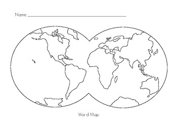 Montessori World Map Extension Paper