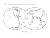 Montessori World Map Extension Paper