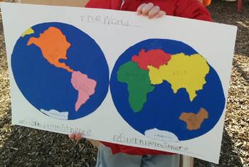 Montessori world map pin punching by montessori journey tpt montessori world map pin punching gumiabroncs Images