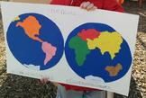 Montessori World Map Pin Punching