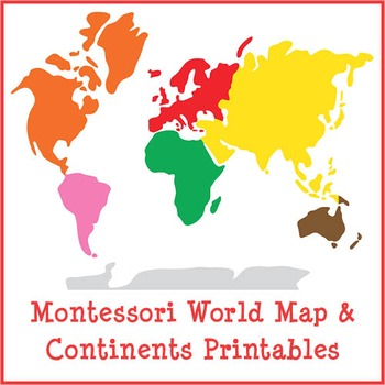 picture about Printable Continents referred to as Montessori Worldwide Map and Continents Printables