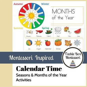 Montessori Year | Seasons & Months of the Year | Calendar Works