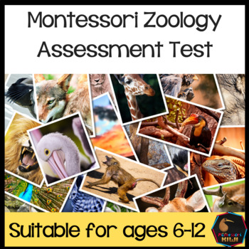 Montessori Zoology Test for assessment