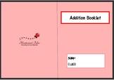 Montessori addition booklet