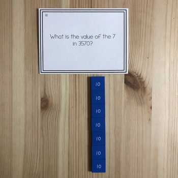 Montessori math: advanced place value task cards