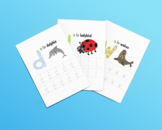 Montessori alphabet worksheets