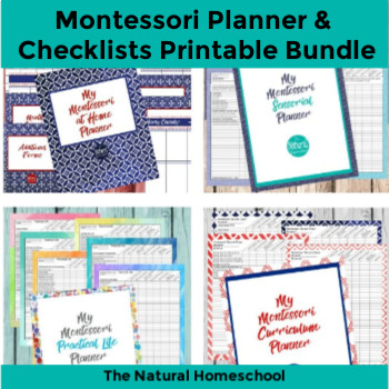 Montessori at Home Comprehensive Planners Bundle ~ 70 Pages