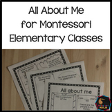 Montessori back to school - all about me
