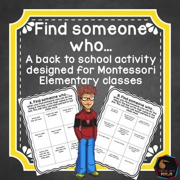 Montessori back to school - find someone who