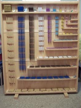 Montessori bead cabinet - stand alone