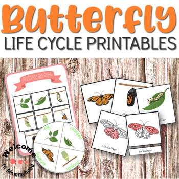 Montessori Butterfly Life Cycle Bundle