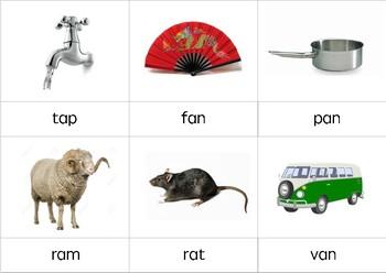 Montessori cards CVC words