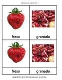 Montessori cards in Spanish FRUTAS