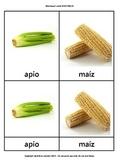 Montessori cards in Spanish: Vegetables VERDURAS