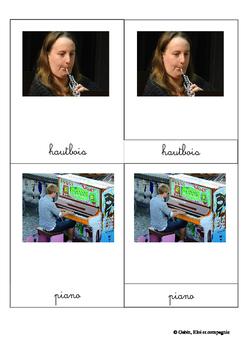 Montessori cards: musical instruments
