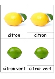Montessori cartes nomenclatures FRUITS les agrumes FRENCH