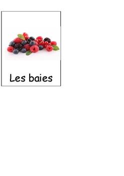 Montessori cartes nomenclatures FRUITS les baies FRENCH