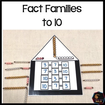 Montessori colored bead fact families