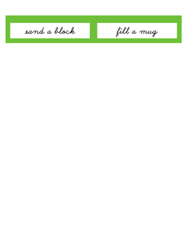 Montessori command cards