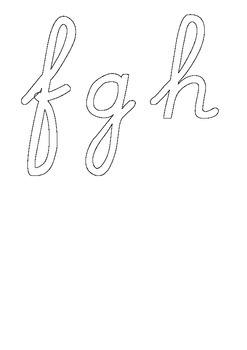 Montessori cursive letters