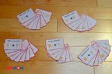 Montessori dynamic addition command card. Graphic task car