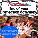 Montessori end of year reflection activities