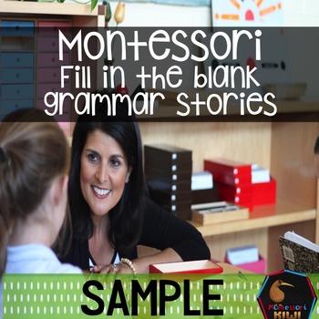 Montessori fill in the gaps SAMPLE FREEBIE