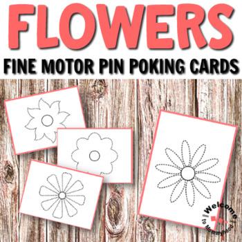 Montessori flowers pin punching cards