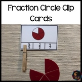 Montessori fraction circle clip cards