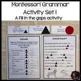 Montessori grammar activity set 1