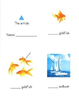 Montessori grammar booklet pack for Children's House