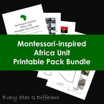 Montessori-inspired Africa Unit Printable Pack Bundle