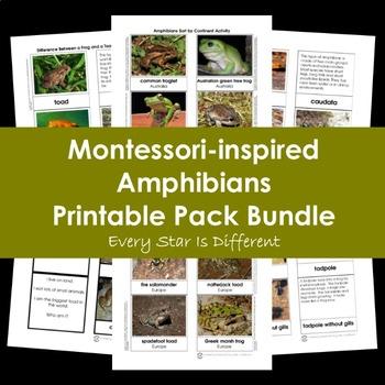 Montessori-inspired Amphibians Printable Pack Bundle
