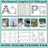 Bilingual Montessori-inspired Arctic Animals Printable Pack