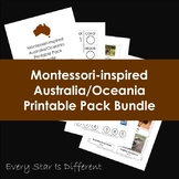 Montessori-inspired Australia/Oceania Printable Pack Bundle