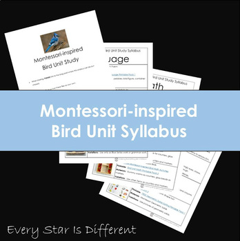 Montessori-inspired Bird Unit Syllabus