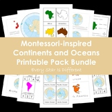 Montessori-inspired Continents and Oceans Printable Pack Bundle